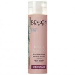Восстанавливающий шампунь с кератином Revlon Professional Interactives Keratin Shampoo, 250 мл.