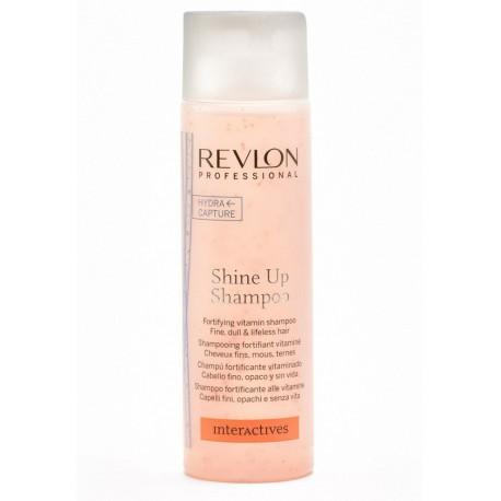 Мультивитаминный шампунь для объема и блеска волос Revlon Professional Interactives Shine Up Shampoo, 250 мл.