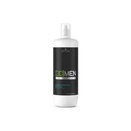 Schwarzkopf [3D]Men Deep Cleansing Shampoo - Шампунь для глубокого очищения 1000 мл