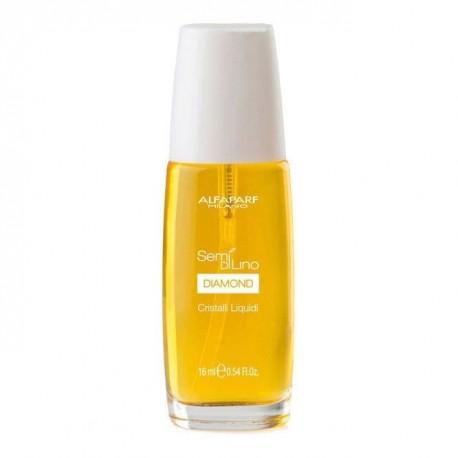 Масло для посечённых кончиков волос, придающее блеск Alfaparf Sdl Lino Diamond Cristalli Liquidi, 16 мл, 10001